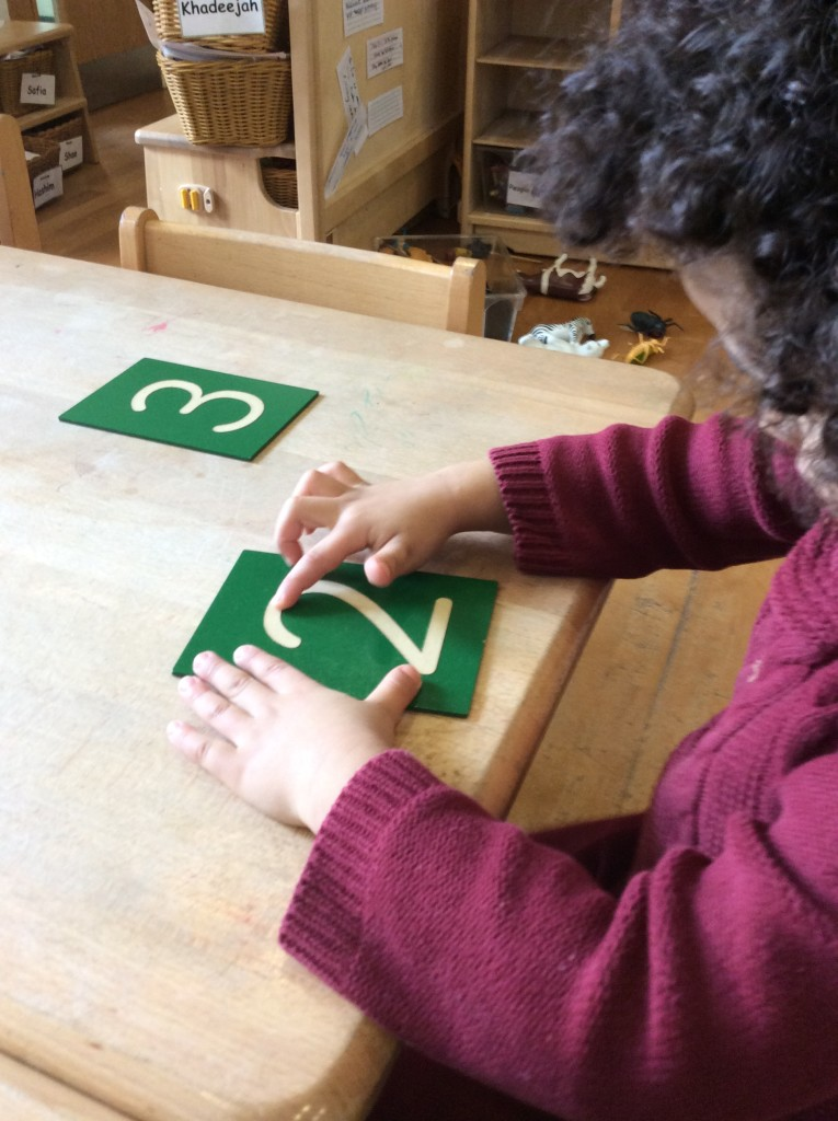 Sandpaper numerals.