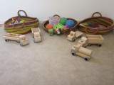 Baskts full of resources - baby room