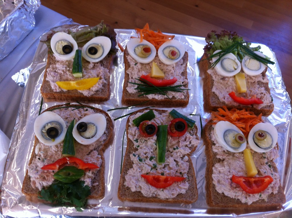 Sandwiches with style for our Eid Party.